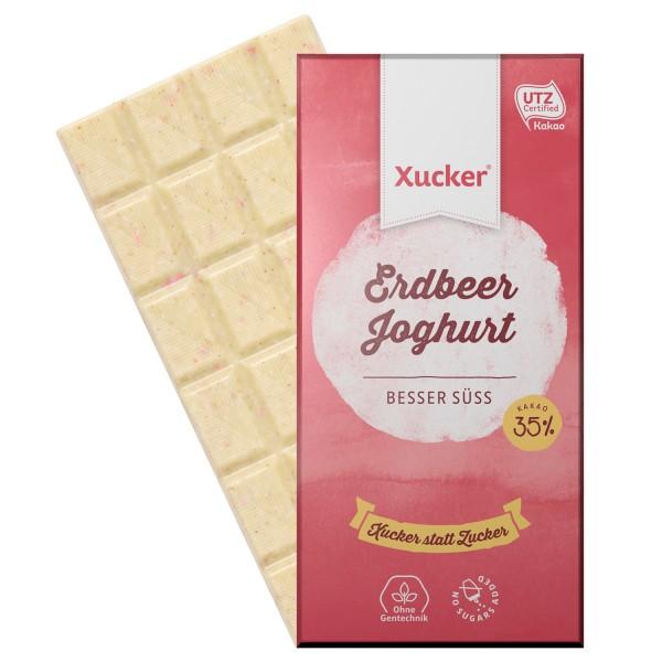 Erdbeer-Johurt Schokolade 100g